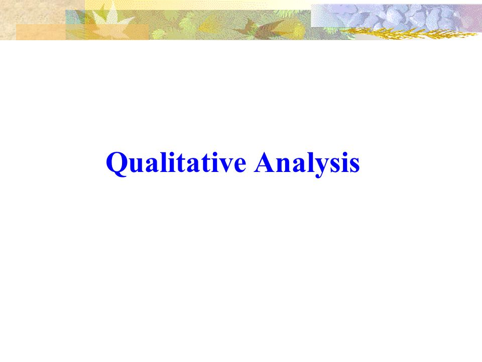 a qualitative analysis on the efficiency The second type of analysis that becp performs for doe is the quantitative analysis of energy savings on standard 901 this analysis utilizes the results of the qualitative analysis to identify what.