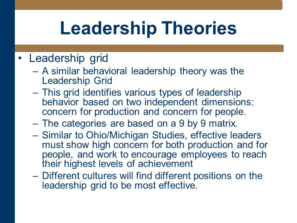 leadership eight major theory and critique Understanding cultures and implicit leadership theories the literature on this topic points to a major anti-management theories of organization: a critique.