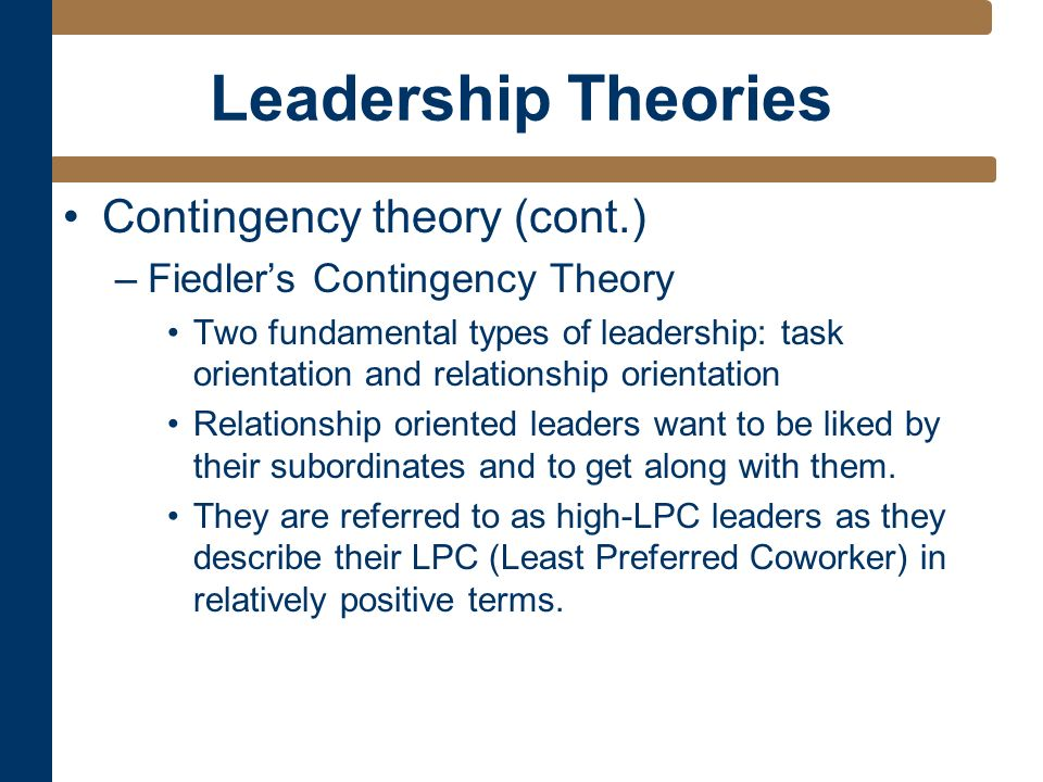 sat2 task 1 leadership Task-oriented and relationship-oriented leadership are two models that are often compared, as they are known to produce varying.
