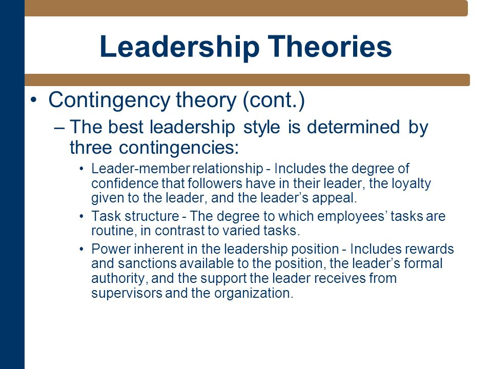 contingency theory of organization pdf