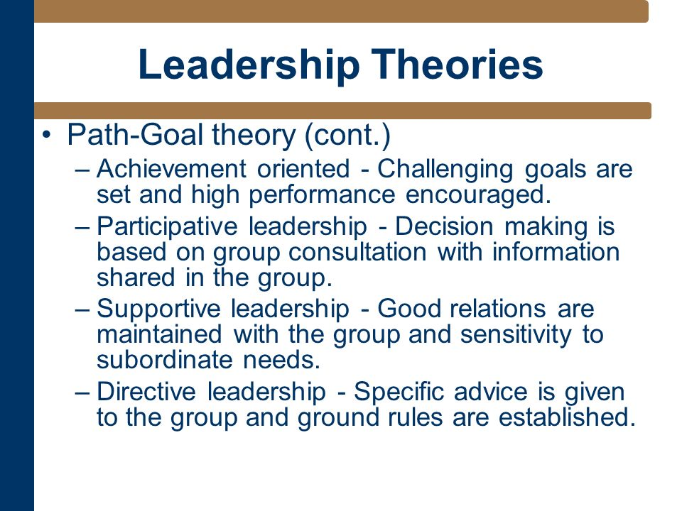 The Path-Goal Theory of Leadership in Companies