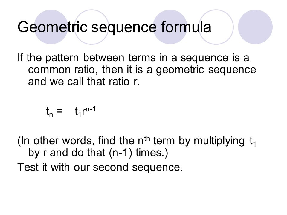 how to find the common difference in a geometric sequence