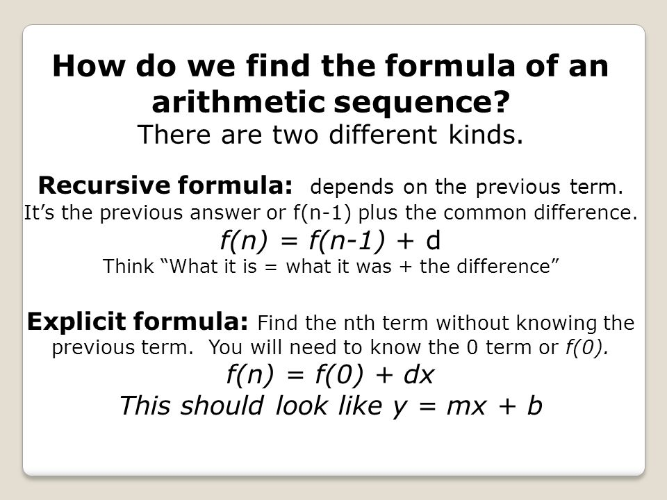how to find out the recursive formula with two terms