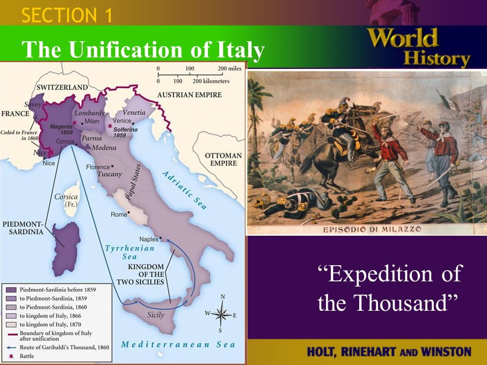 Section 1 The Unification of Italy  ppt download