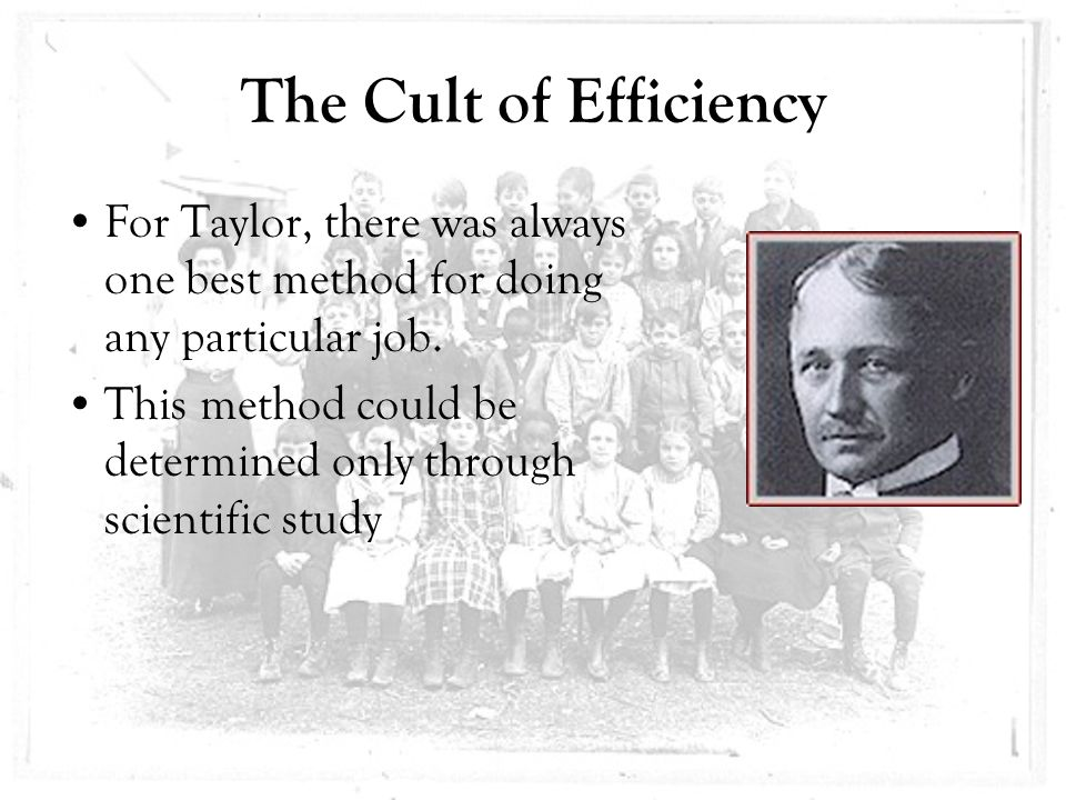 cult of efficiency Full text full text is available as a scanned copy of the original print version get  a printable copy (pdf file) of the complete article (370k), or click on a page.