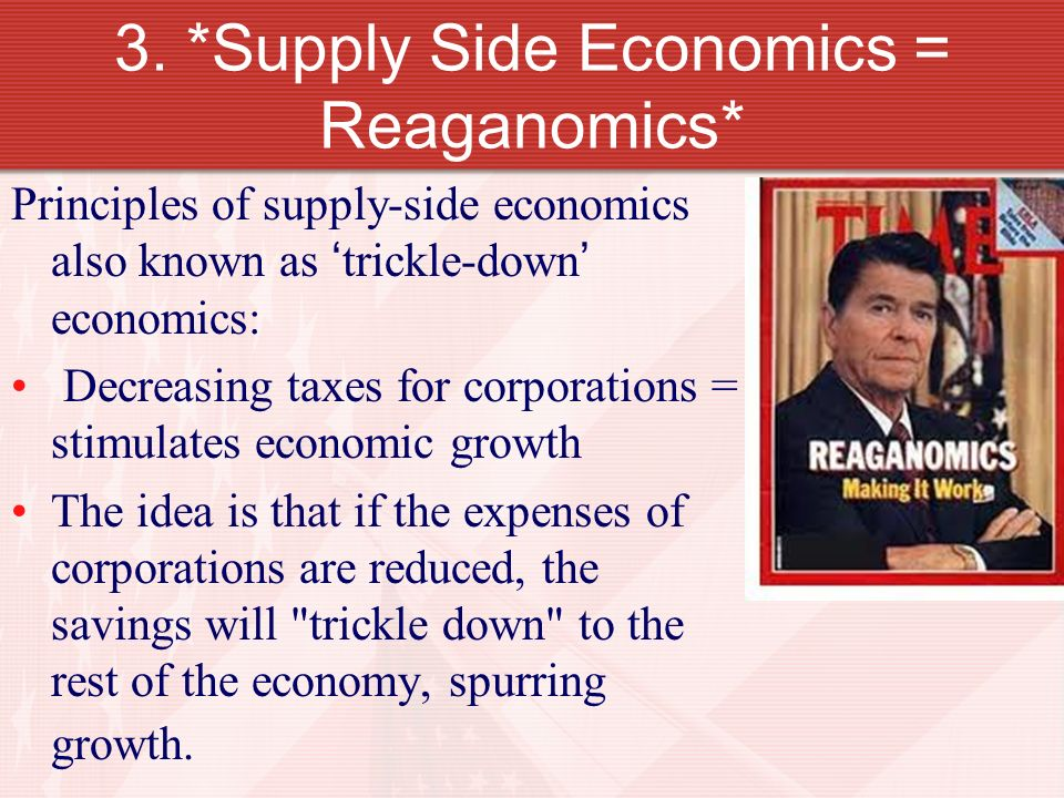 ronald reagan and economic policies Ronald reagan - was ronald reagan a good president reagan's economic policies, such as a reduction in government spending and regulation and cuts in.