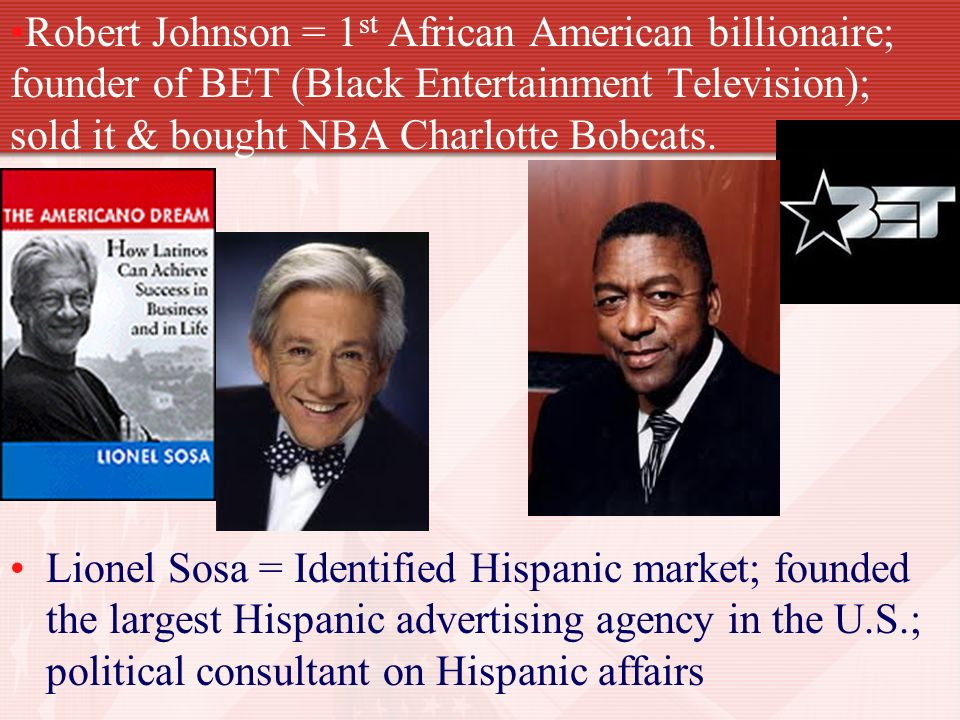 america s african american billionaire robert johnson Bet co-founders and former spouses robert and sheila johnson could teach us all a thing 5 things you should know about america's first african-american billionaires.