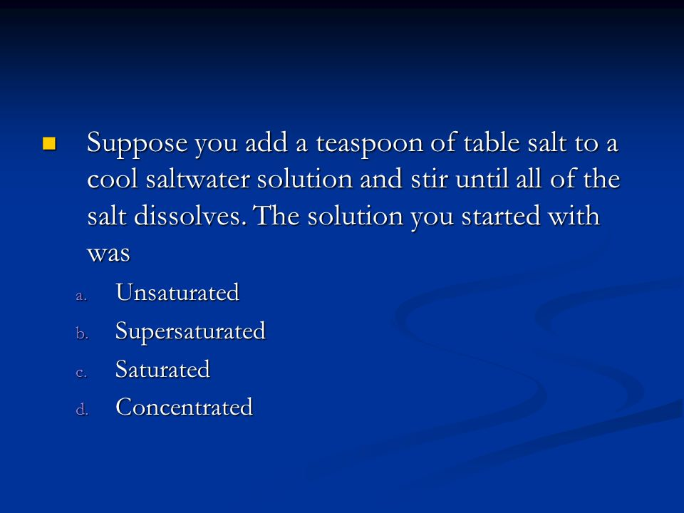 how to make a supersaturated salt solution