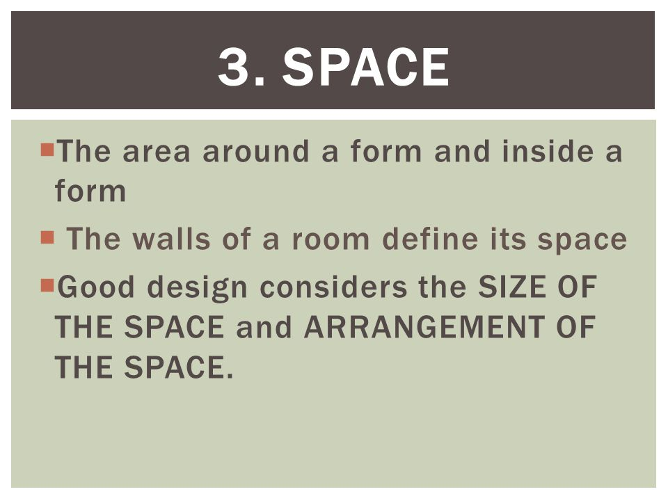 Objective apply the elements of design ppt video for Definition of form and space in architecture