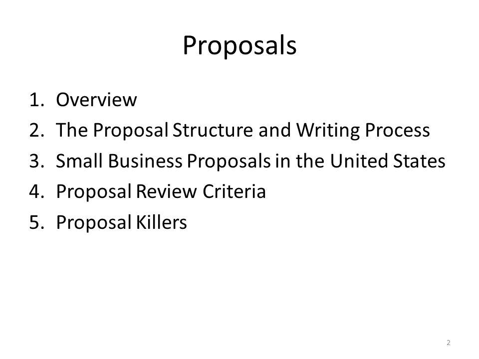 proposal writing procedure