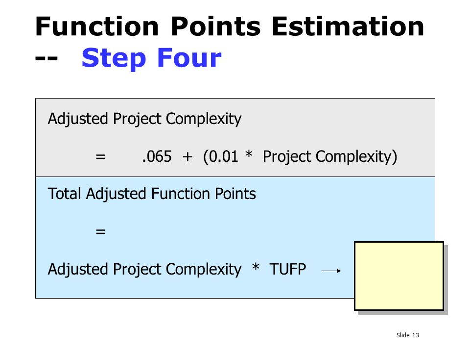 function point estimation Function point estimation identify the functions in the software divide software's function to be tested among the resources available.