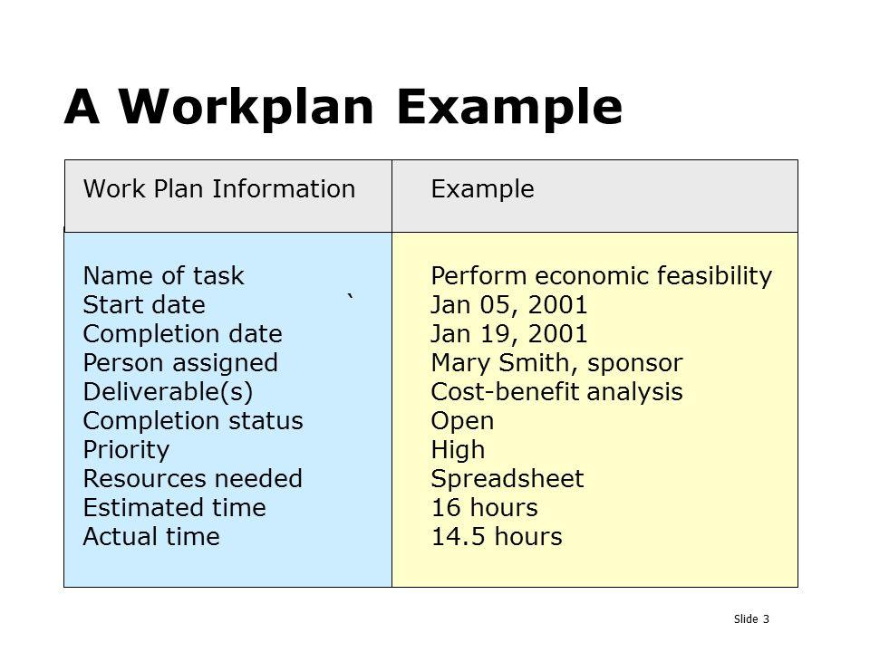 Workplan Example Custom Paper Help