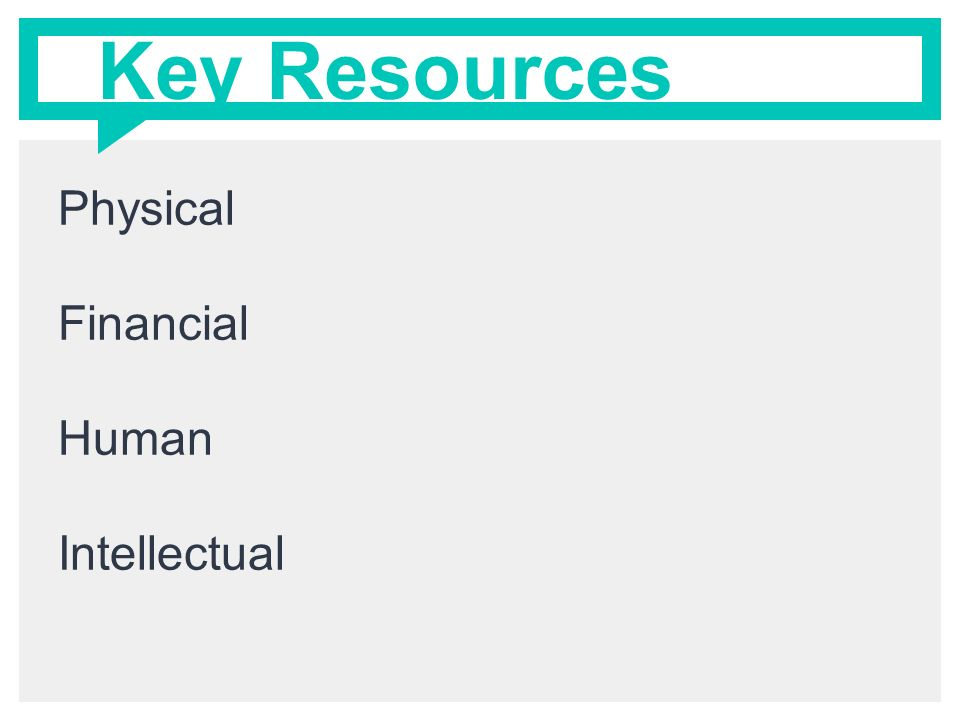 physical resources in a business Financial resources concern the ability of the business to finance its chosen  strategy  the category of physical resources covers wide range of operational.