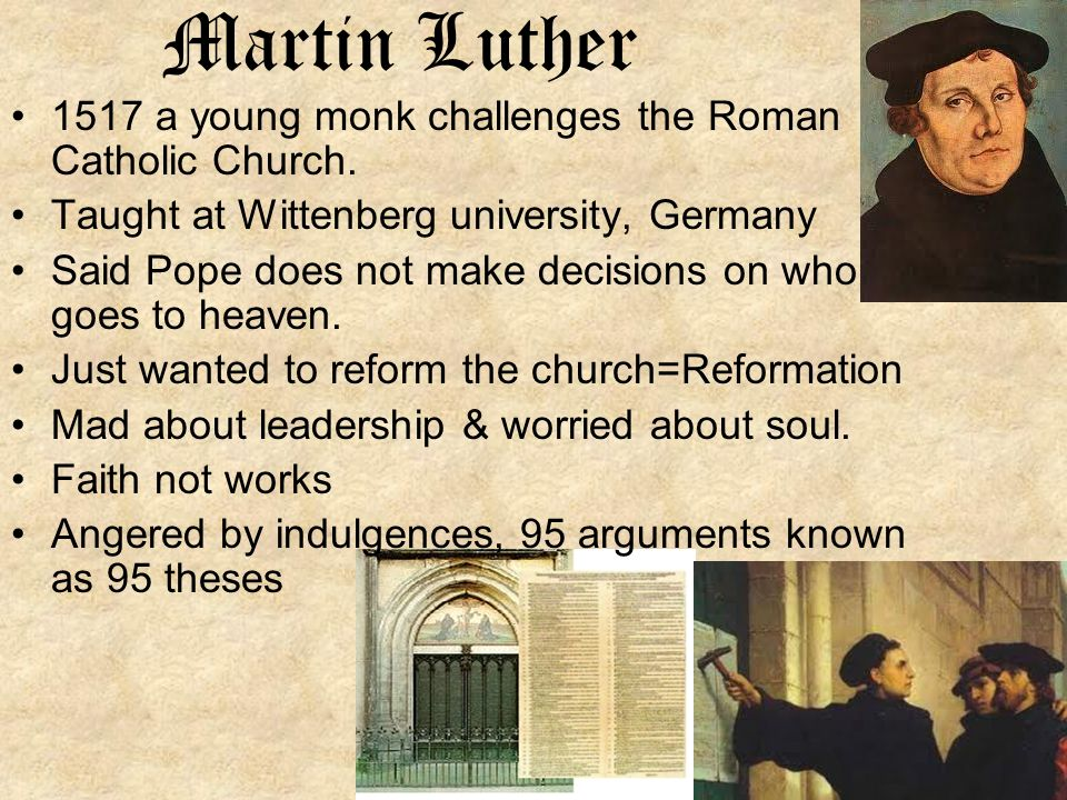 roman catholic church reformation martin luther On the reformation anniversary, however, the lutheran church, founded by luther himself, and the roman catholic church that rejected luther's protest have achieved at least a partial reconciliation.