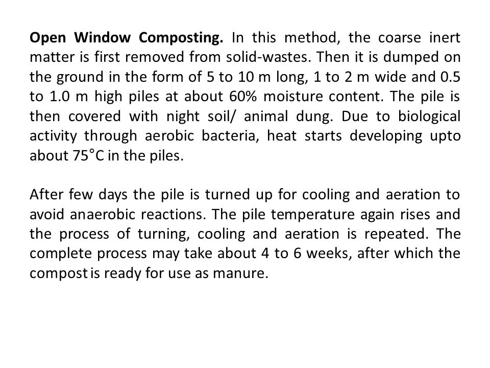 Open Window Composting