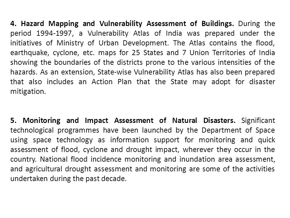 4. Hazard Mapping and Vulnerability Assessment of Buildings