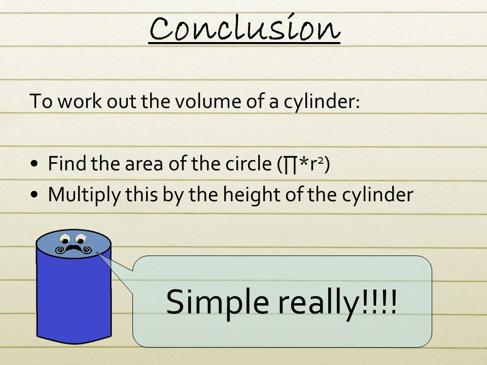 What is volume volume is the measure of the amount of space conclusion simple really to work out the volume of a cylinder ccuart Images