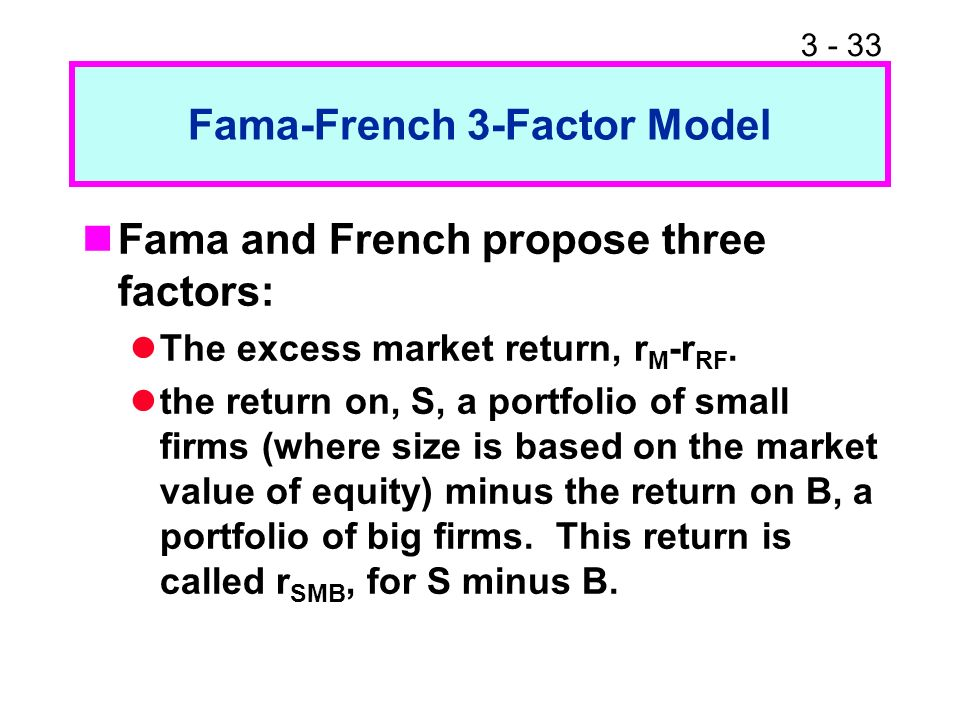 what factors did fama and french Revisiting the capm and the fama-french multi-factor models: modeling volatility dynamics in financial markets  factors from the set of possible ones.