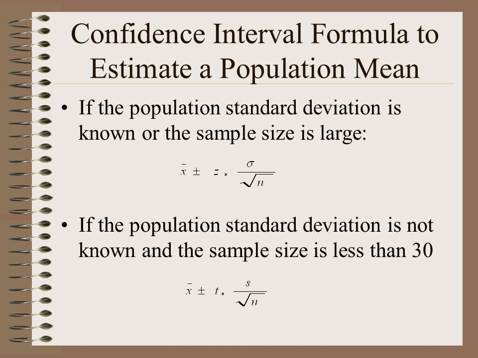 Inference for a Population Mean - ppt download