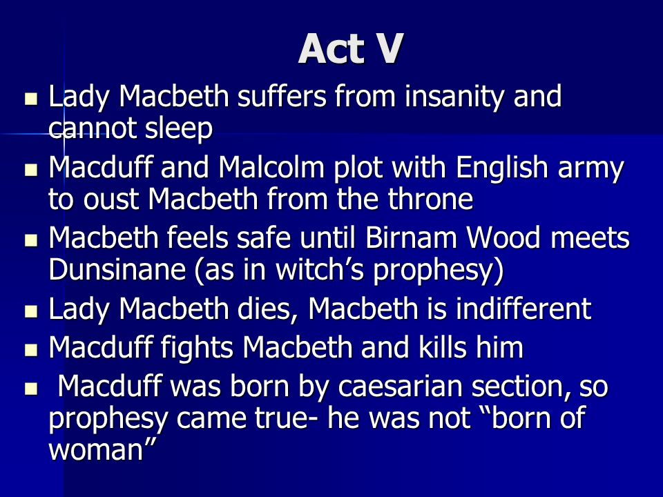insanity in macbeth A bbc bitesize secondary school revision resource for higher english on macbeth's themes: guilt, order and disorder, false appearance, bravery, and others.