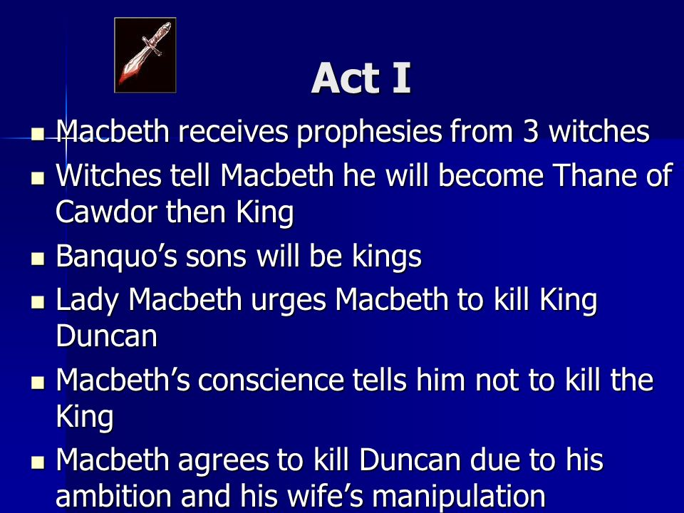 an analysis of the witches prophecies portrayed on macbeth Shakespeare has portrayed lady macbeth as a  to perform the murder he blindly listens to the witches' prophecies with no solid  to english macbeth.
