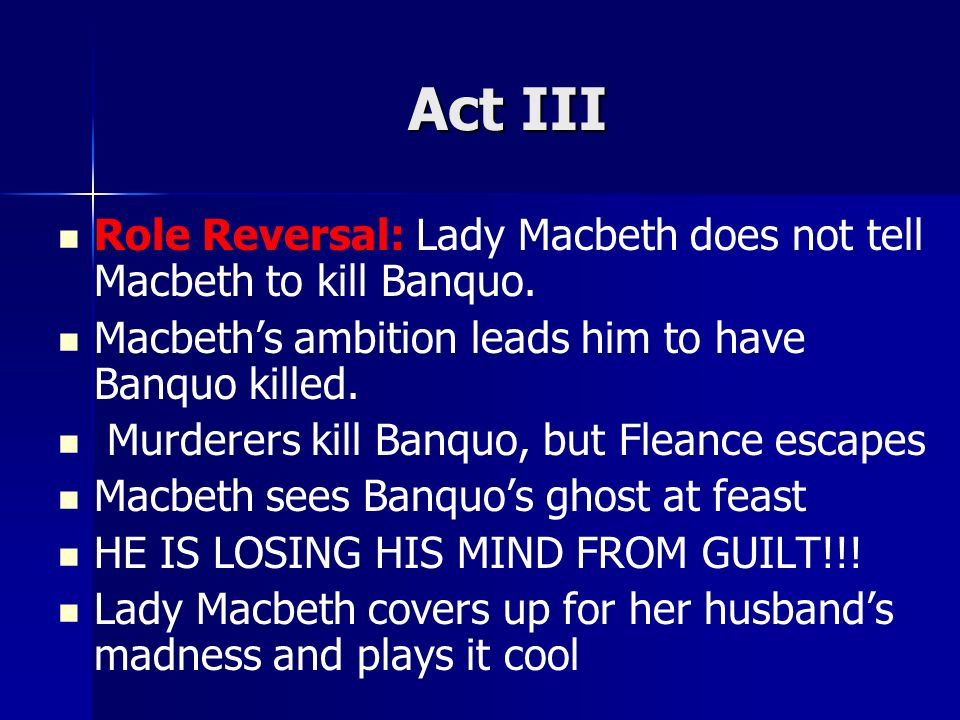 the role of guilt in macbeth What are the roles of the maidens chryseis & briseis in the epic the iliad  the guilt that macbeth,  vale, stella what is the tone in macbeth.