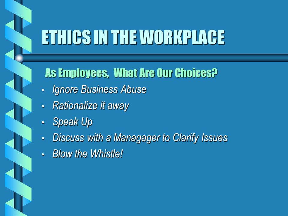ethical theories in the workplace Ethical theories the field of ethics (under the broader umbrella of moral philosophy) (often much lower) ethical standards ethics in the workplace.