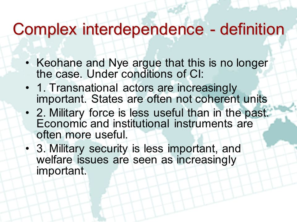 dimopoulos dimosthenis realism and complex interdependence Complex interdependence essay complex interdependence, today un deals dimopoulos dimosthenis realism and complex interdependence summary essay in keohane and nye, realism and complex interdependence, chapter 1-3, two major questions are attempted to be.