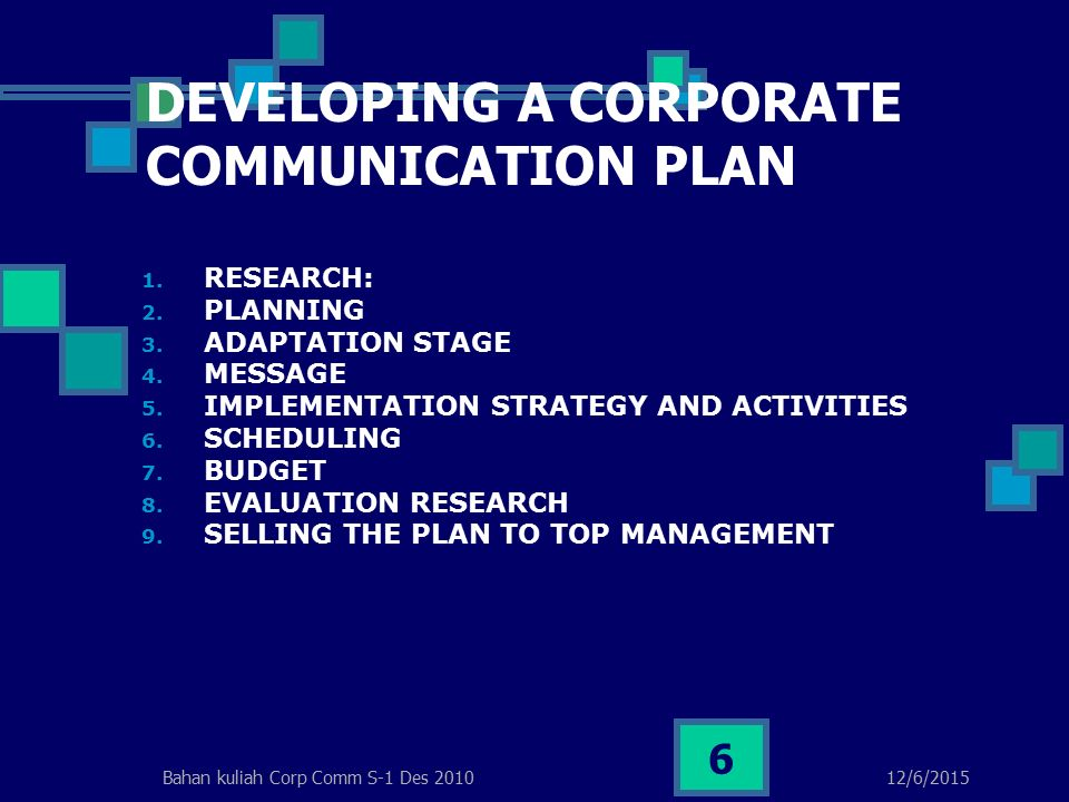 A Development Plan for Increasing Communication Skills