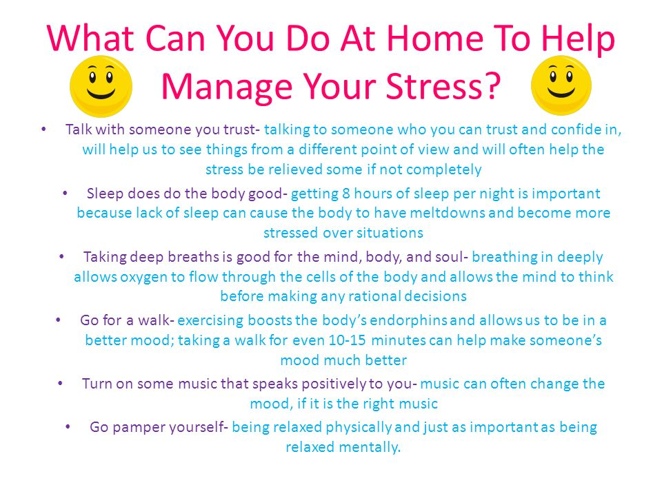 how does stress affect a person positively This example clearly shows how a person s physical health can impact either positively or negatively on a person s mental health while exercise is a great way to try and improve mood, confidence and avoid depression, anyone experiencing depression should still contact a therapist.
