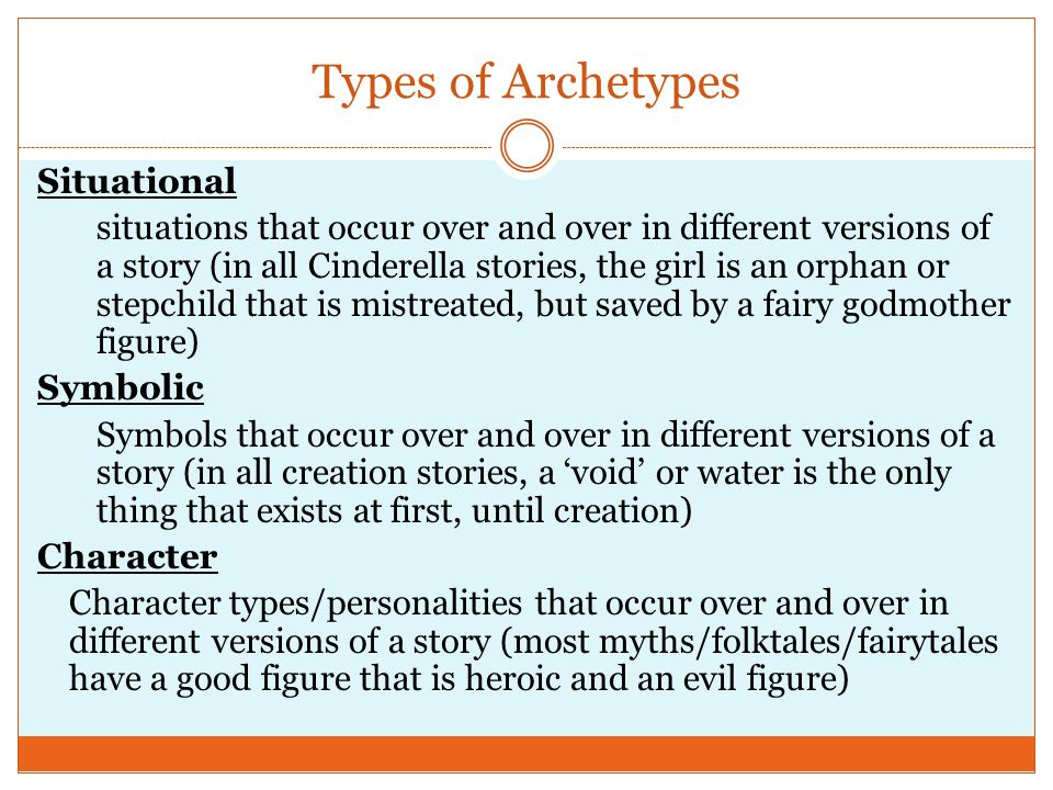 Types of Archetypes