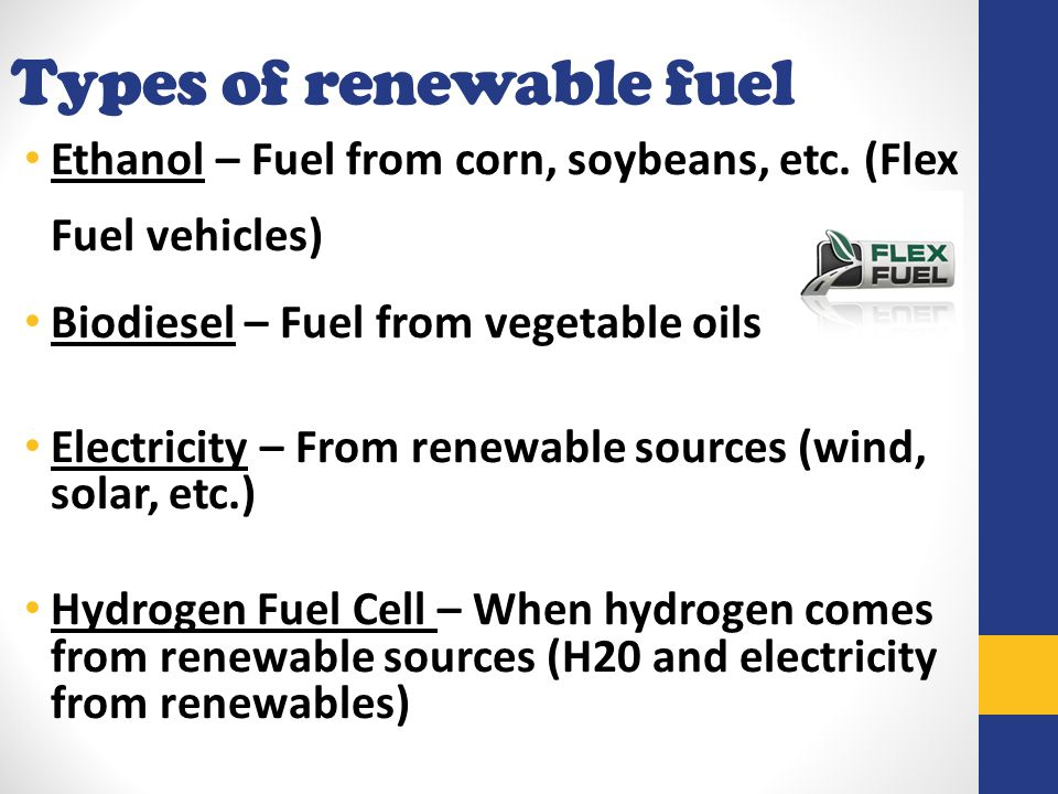 an overview of biodiesel the renewable source of fuel Renewable diesel (r99) like fuels derived from biological sources that are chemically not esters and thus distinct from biodiesel renewable diesel.