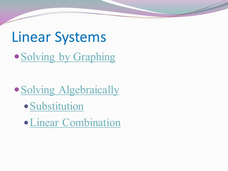 graphing substitution linear combination essay If you hit one, your life is saved if you correctly solve a linear system using linear combinations eat cake by correctly solving linear systems using linear combinations to earn points pick up fire cat power up by solving linear systems correctly using substitution to be able to move up and down faster.