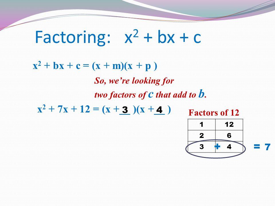 Algebra 1 2nd Quarter Review ppt download – Factoring X2 Bx C Worksheet
