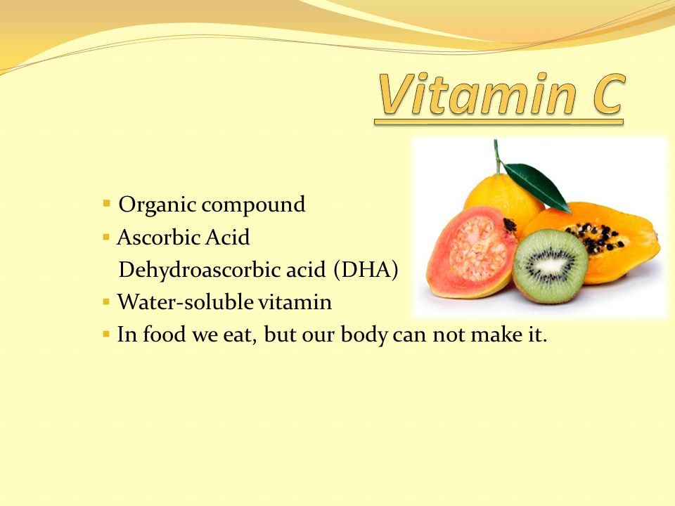 a description of vitamin c a water soluble vitamin as known as ascorbic acid Drug's description collagen is the main structural protein in the extracellular space in the various connective tissues in animal bodies vitamin c, also known as l-ascorbic acid, is a water-soluble vitamin that is naturally present in some foods, added to others, and available as a dietary supplement.