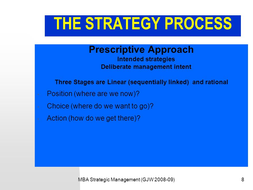 prescriptive strategy disadvantages On strategies deliberate and emergent: a corporate startup  at the strategic level there has been an ongoing debate about whether strategy can be deliberate versus.