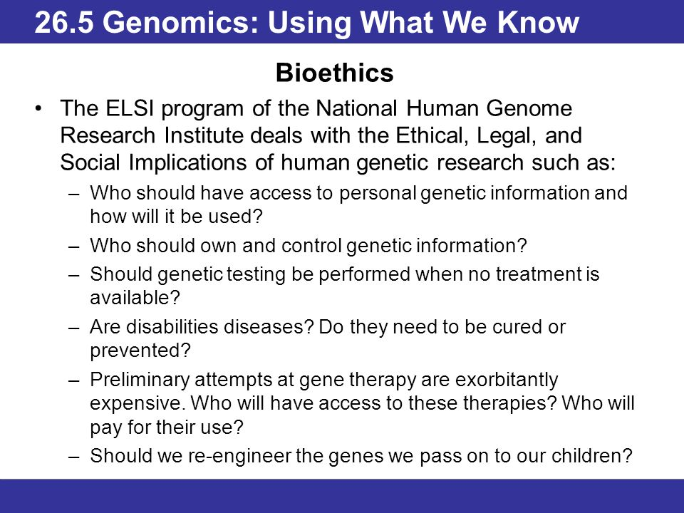who should have access to personal genetic information and how will it be used Destabilize insurance markets if access to personal genetic information leads  genetic testing: how it is used  should life insurers have access to genetic.
