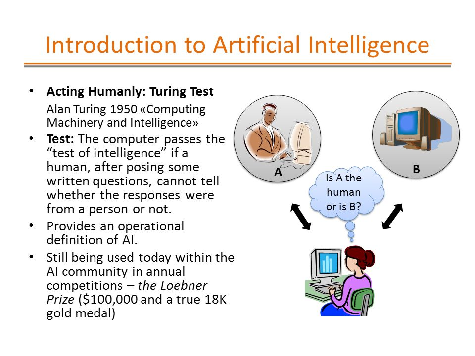 alan turing questions the capabilities of artificial intelligence Support - features - uptime - value  the concept of artificial intelligence is  not a new one  alan turing is nowadays considered the father of theoretical  computer science and artificial intelligence  the interrogator can ask questions  and the objective of person a is to try and confuse the interrogator while person b  is.