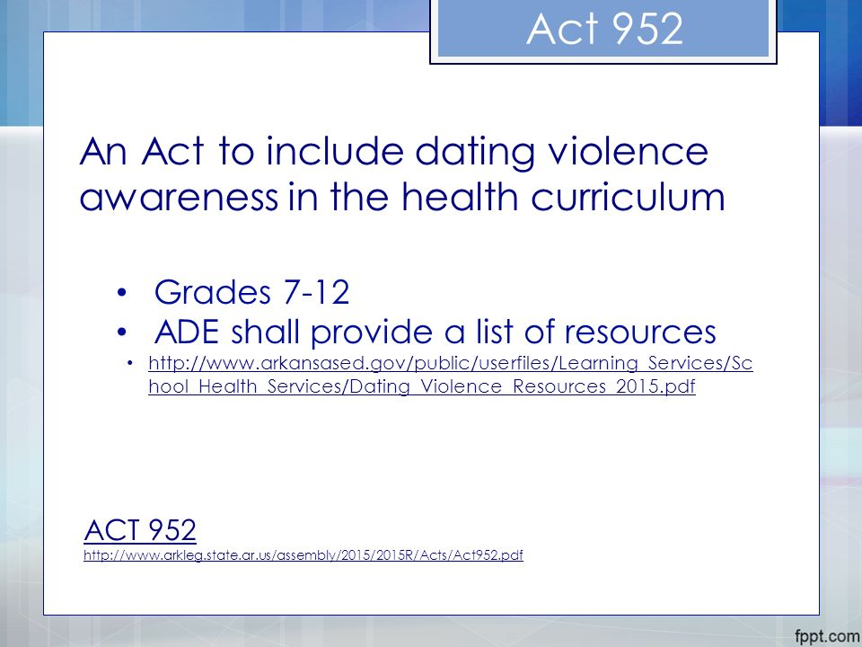 Dating violence prevention curriculum