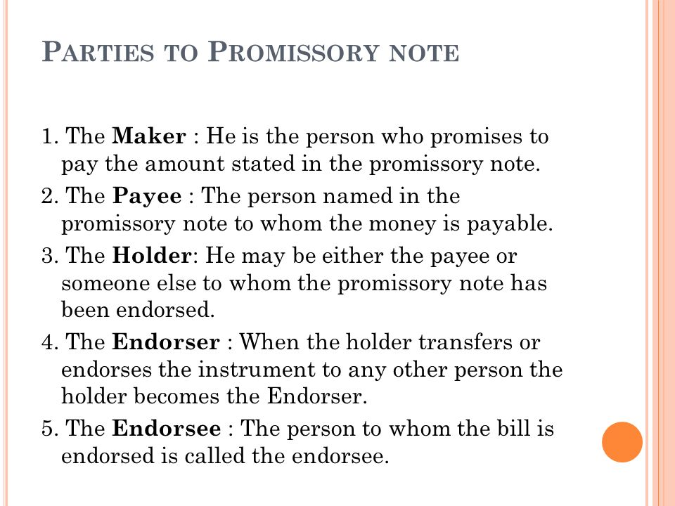 19 Parties To Promissory Note For Parties Of Promissory Note