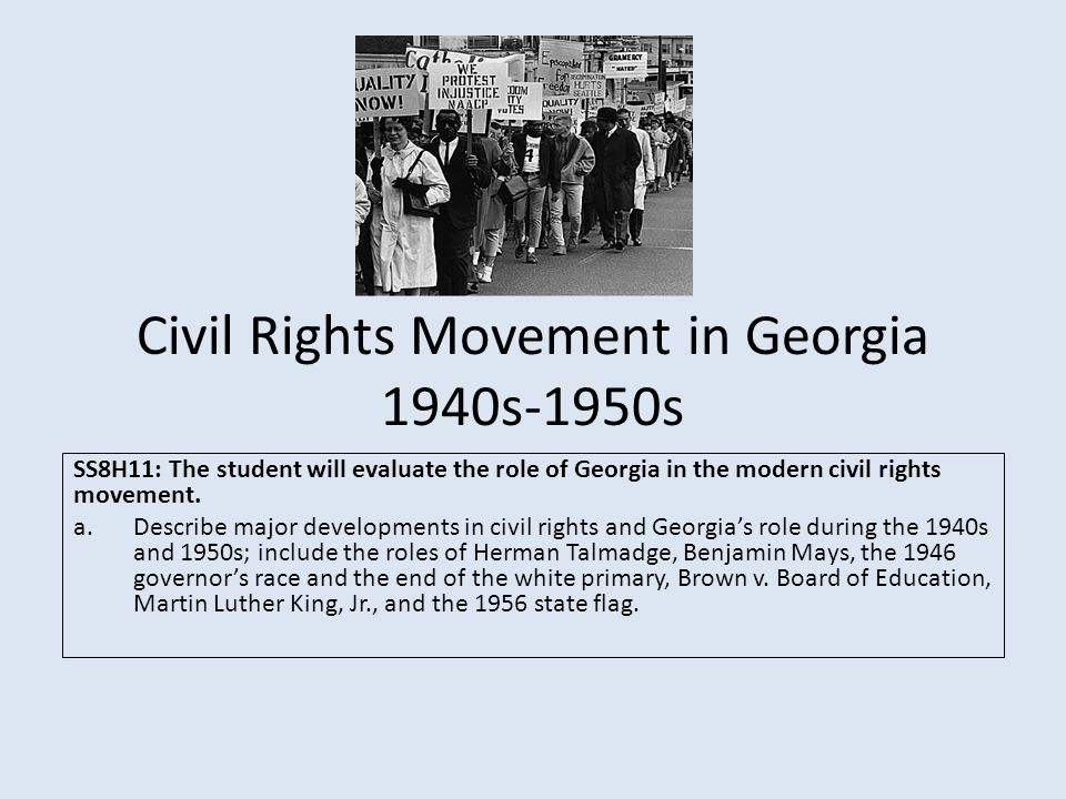 the civil rights movement main The civil rights movement in the american south was one of the most significant and successful social movements in the modern world black georgians formed part of.