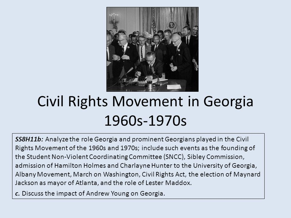 georgia in the civil rights movement Civil rights movement in georgia, a timeline made with timetoast's free interactive timeline making software.