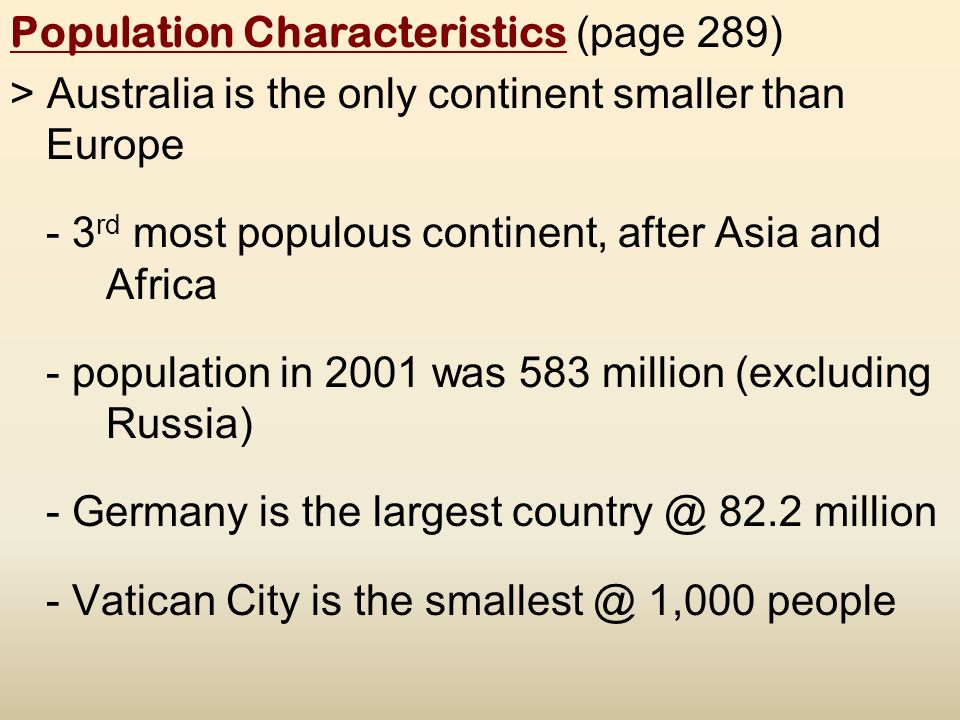 The cultural geography of europe ppt video online download 7 population characteristics sciox Choice Image