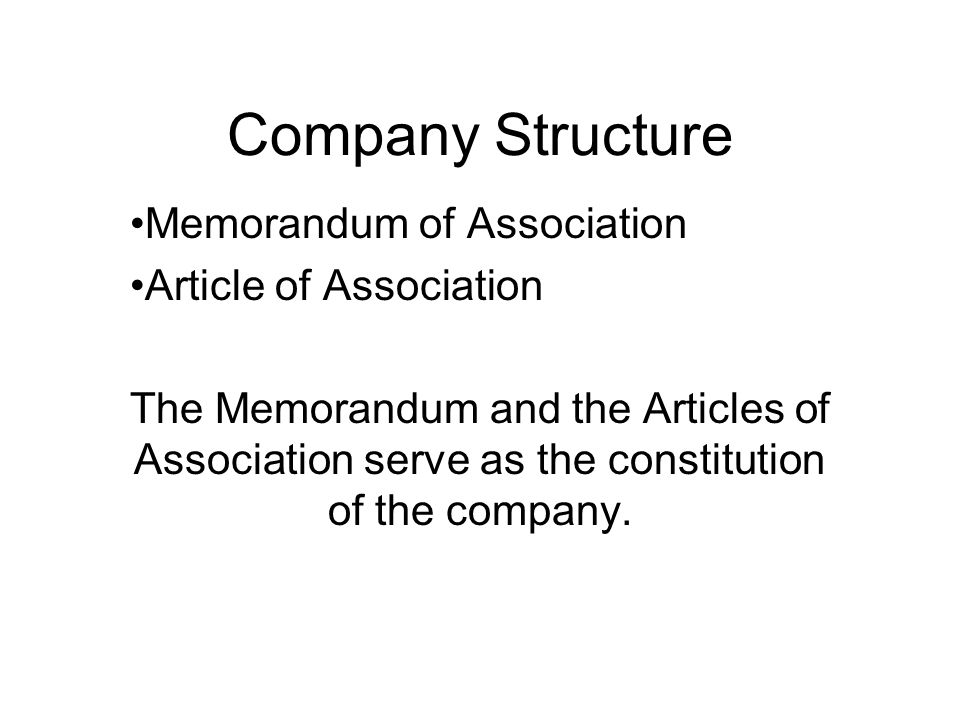 memorandum and articles Learn more on memorandum and article of association.