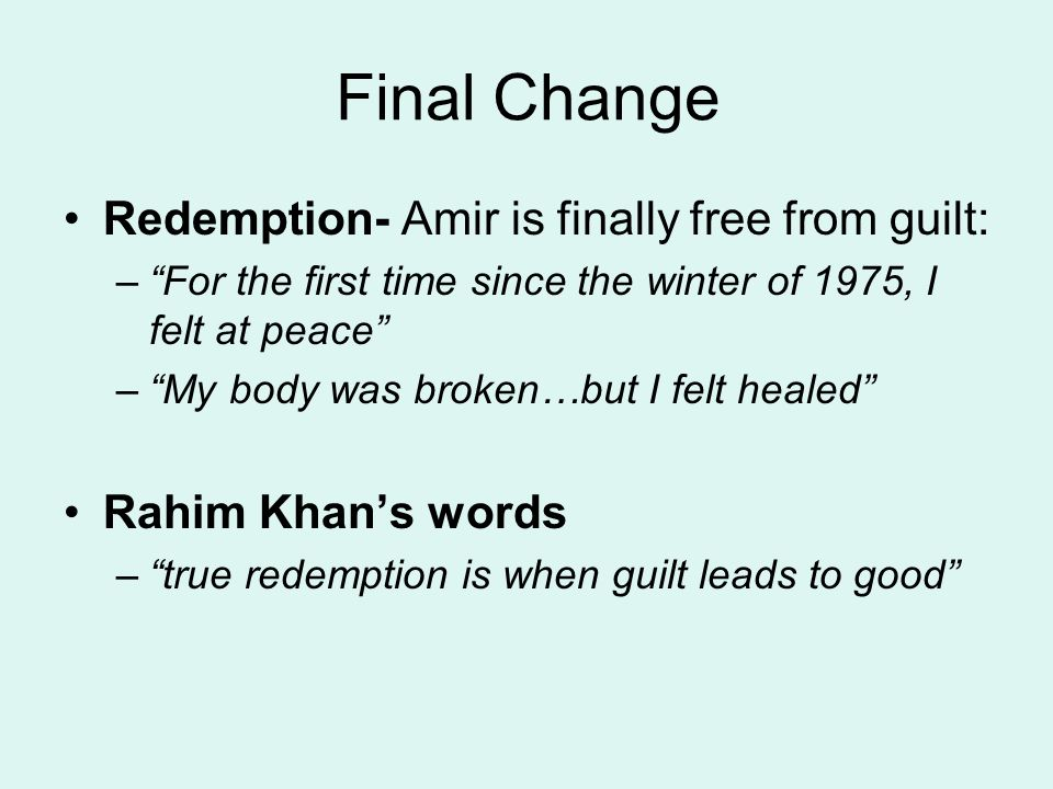 kite runner essay on sin and redemption