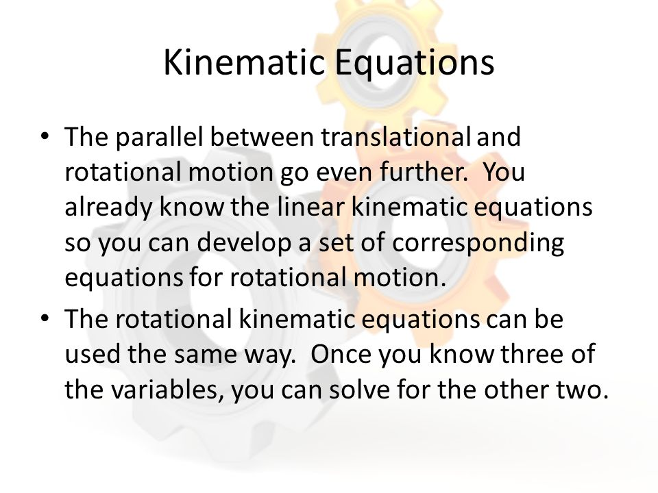 how to solve for time kinematics equations