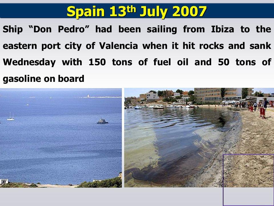 Spain 13th July 2007