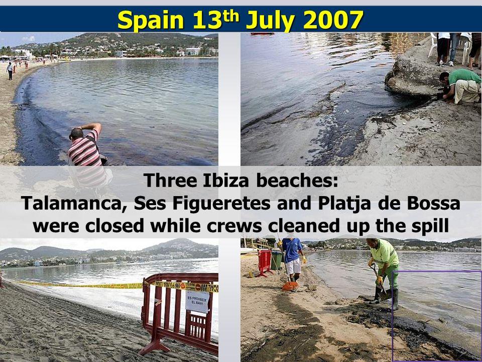 Spain 13th July 2007 Three Ibiza beaches: