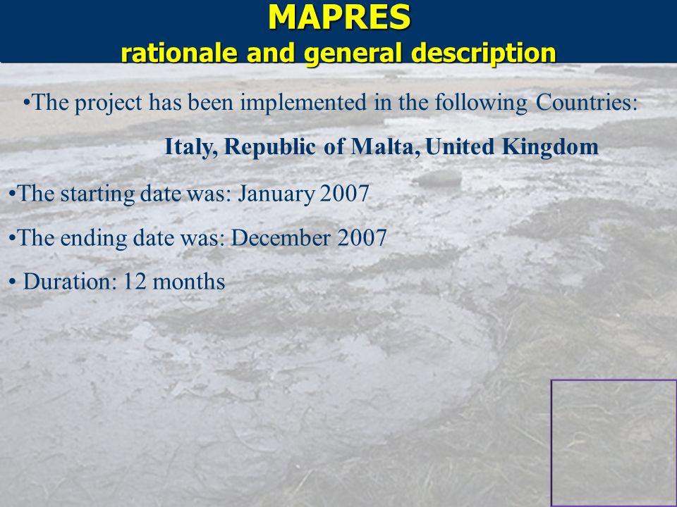 MAPRES rationale and general description
