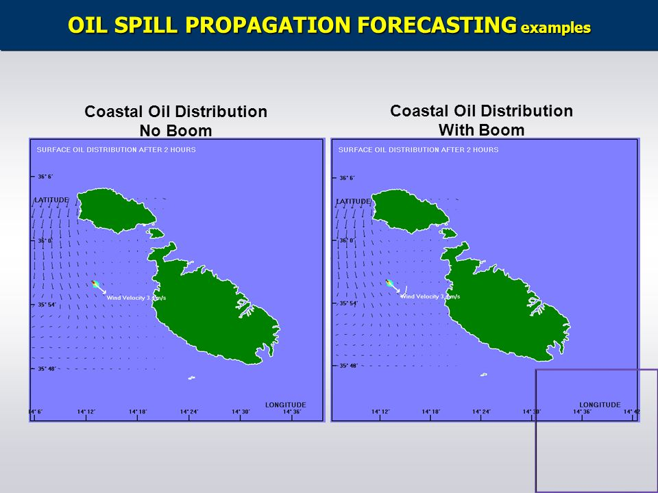 OIL SPILL PROPAGATION FORECASTING examples